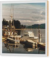 Domino At Alderbrook On Hood Canal Wood Print