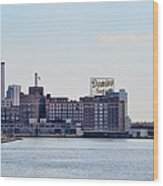 Domino Sugars - Baltimore Maryland Wood Print