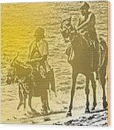 Don Quixote Rides Again Wood Print