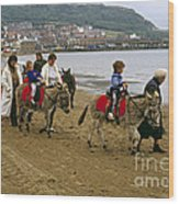 Donkey Ride Gb 1980s Wood Print by David Davies