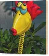 Donna's Bird Says Kiss Me Wood Print