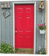 Donna's Red Friendship Door Wood Print