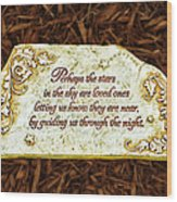 Donna's Special Message Wood Print