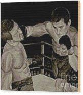 Donovan Boxing Wood Print
