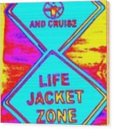 Don't Booze And Cruise Wood Print