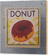 Donut Wood Block Wood Print