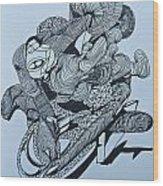Doodle - 02 Wood Print