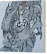 Doodle - 04 Wood Print