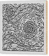 Doodle 12 Wood Print