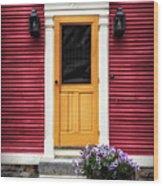 Door 11 Wood Print