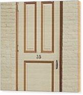 Door 35 Wood Print