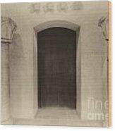 Door And Pillars  B And W Wood Print
