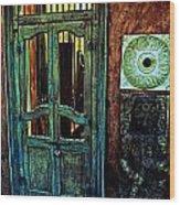 Door Guard Wood Print