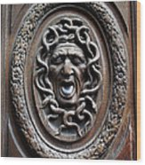 Door In Paris Medusa Wood Print by A Morddel