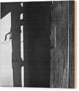 Door In Silhouette  Wood Print