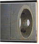 Door Knob Hole I Wood Print