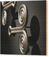 Door Knobs Wood Print