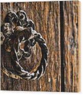 Door Knocker Wood Print by Heather Applegate