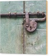 Door Lock Wood Print