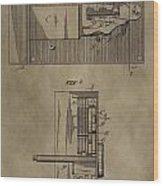 Door Lock Patent Wood Print