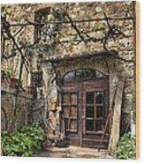 Door Montepulciano Italy Wood Print
