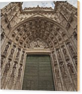 Door Of Assumption Of The Seville Cathedral Wood Print