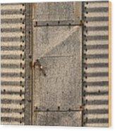 Door On An Old Metal Silo Wood Print