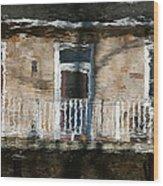 Door Reflections 2 In Perth Ontario Wood Print