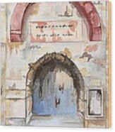 Door Series - Door 4 - Prison Of Apostle Peter Jerusalem Israel Wood Print