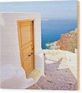 Door Suddenly Wood Print
