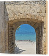 Door To Joy And Serenity - Beautiful Blue Water Is Waiting Wood Print