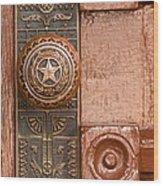 Door To Texas State Capital Wood Print
