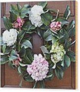 Door Wreath Wood Print