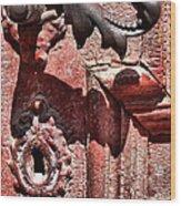 Doorknob Vintage Mechanism Wood Print
