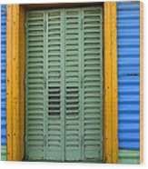 Doors And Windows Buenos Aires 14 Wood Print