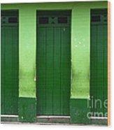 Doors And Windows Lencois Brazil 1 Wood Print