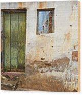 Doors And Windows Lencois Brazil 4 Wood Print