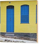 Doors And Windows Lencois Brazil 8 Wood Print