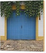 Doors And Windows Minas Gerais State Brazil 11 Wood Print