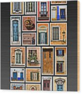 Doors And Windows Of Europe Wood Print