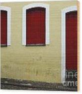 Doors And Windows Salvador Brazil 1 Wood Print