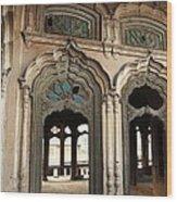 Doors And Windows - Umar Hayat Mahal Wood Print by Murtaza Humayun Saeed