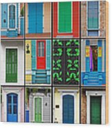 Doors New Orleans Wood Print by Christine Till