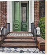 Doors Of Historic Charleston Wood Print