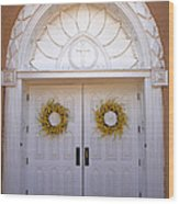 Doors Of San Francisco De Asis Wood Print