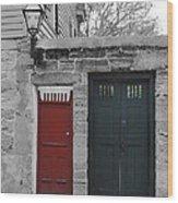 Doors Of St. Augustine Wood Print