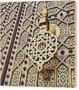 Doors Of The Hassan Mosque In Rabat Wood Print
