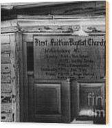 Doors Of Worship Wood Print