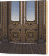 Doors To The Old West Wood Print