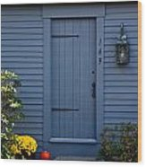 Doorway In Maine Wood Print